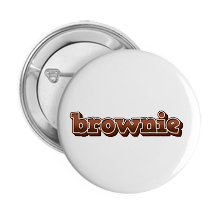 Pinback Buttons brownie