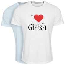 Custom T-shirt > Girish i-love