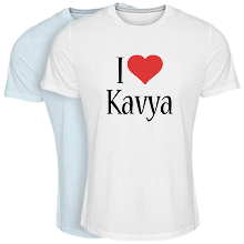 Custom T-shirt > Kavya i-love