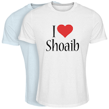 Custom T-shirt > Shoaib i-love